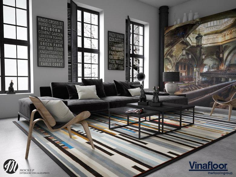 thảm trải sàn phòng khách a6-3