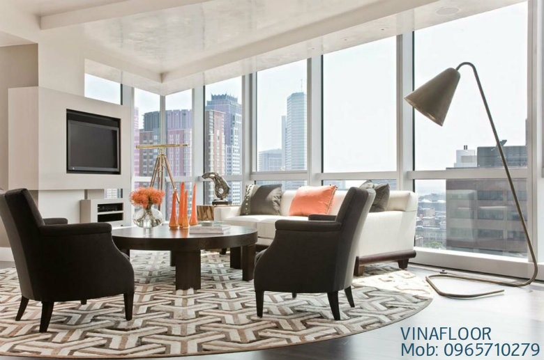 thảm phòng khách đẹp mắt