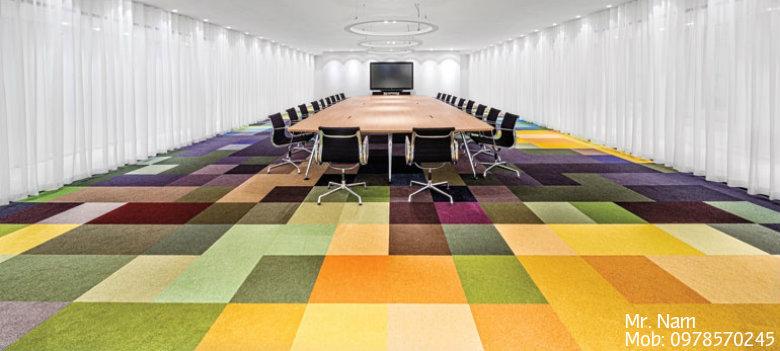 thảm văn phòng nhiều màu sắc