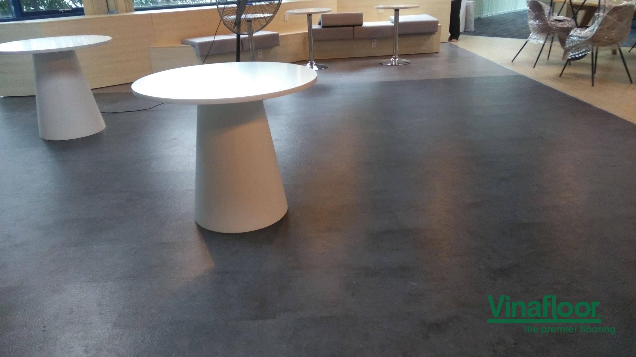 Công trình sàn nhựa SPC tòa nhà Etown 3 Cộng Hòa Tân Bình