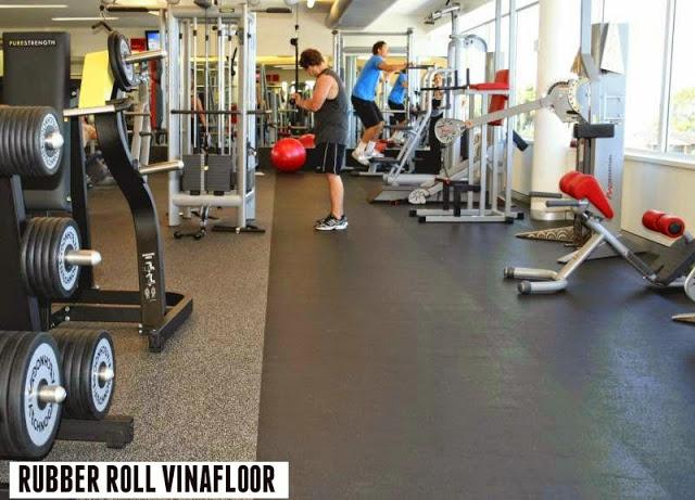 Sàn cao su cho phòng gym 5 sao