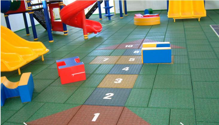 sàn cao su nhà trẻ