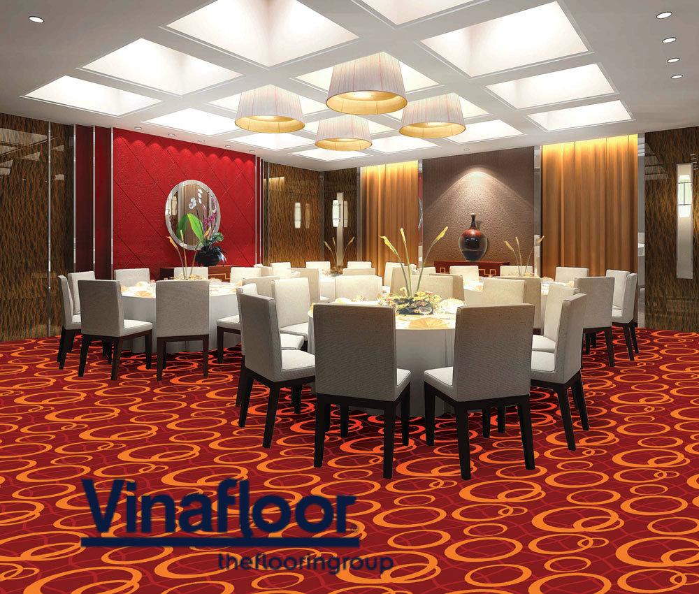 Tăng đẳng cấp cho nhà hàng, khách sạn bằng thảm trải sàn