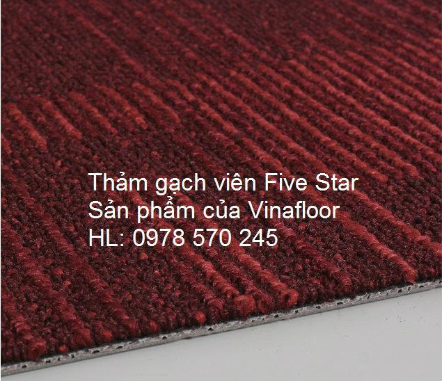 Thảm Viên Five Star màu đỏ