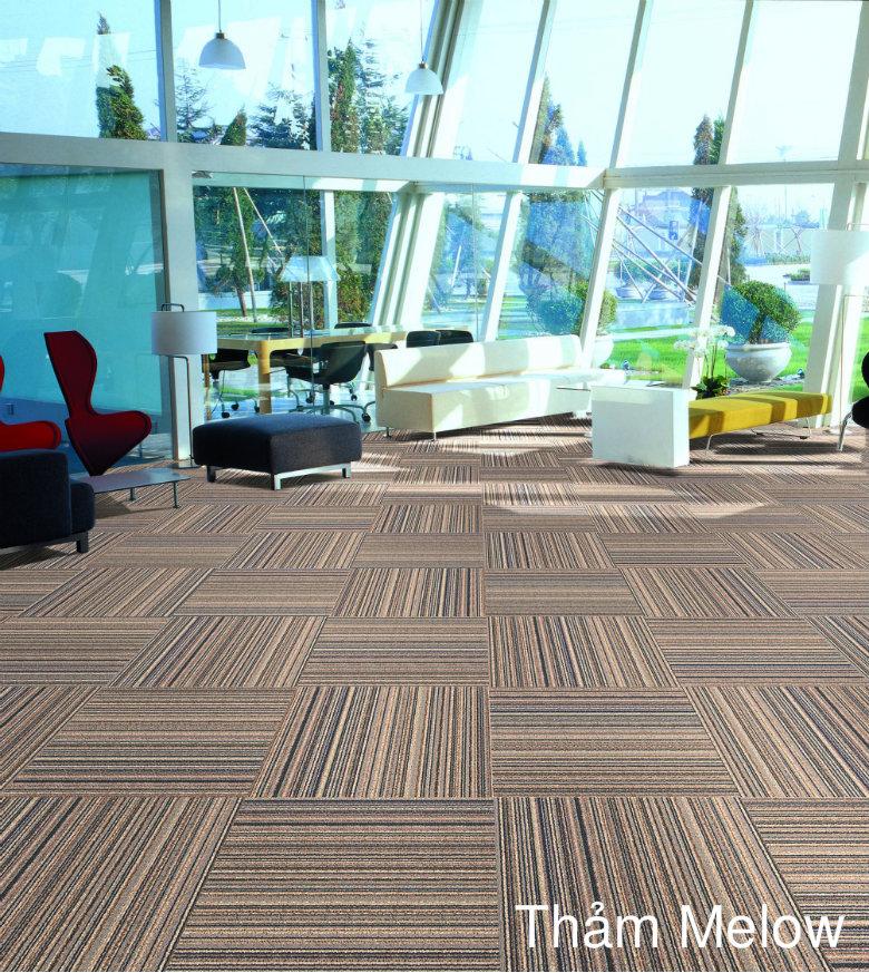 thảm trải sàn melow màu vàng